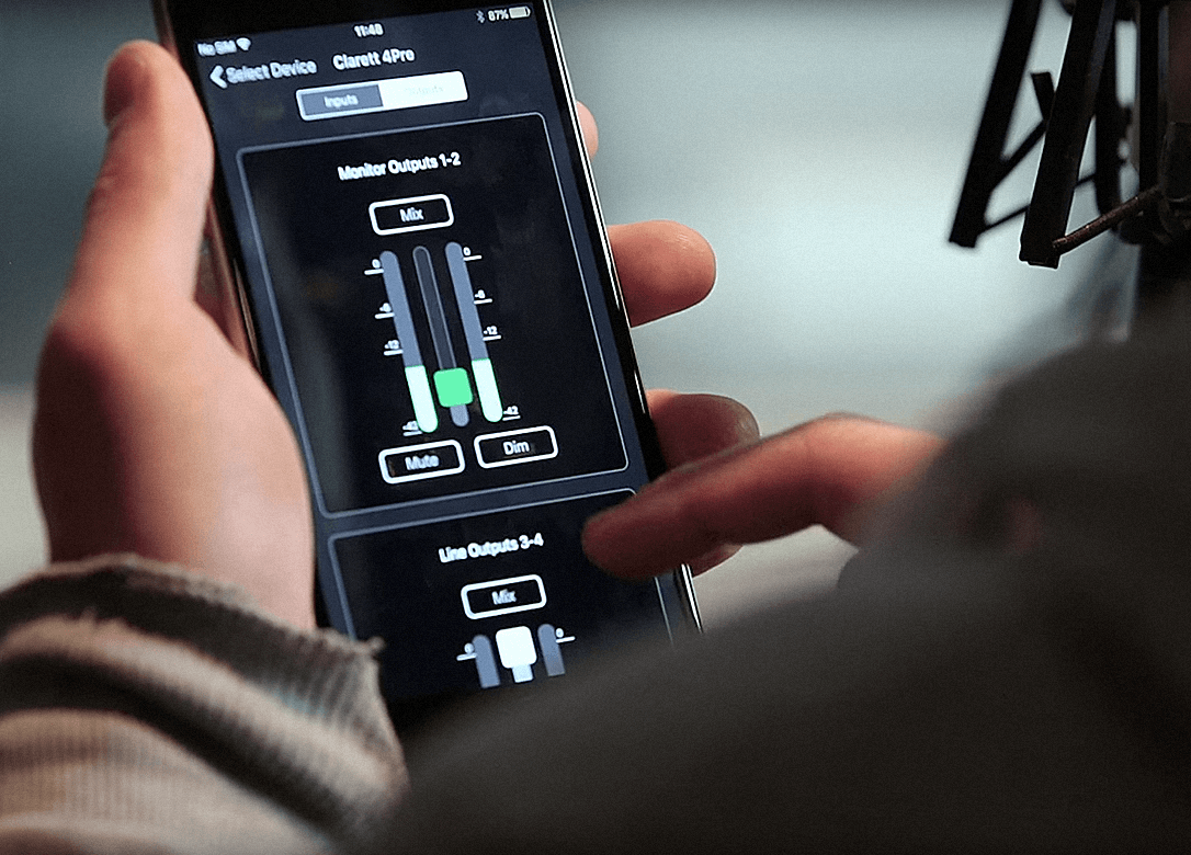 Focusrite Control on iPhone